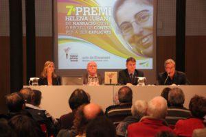 Joan Jubany i Itxart, president de l'Associació Helena Jubany, acompanyat per l'alcalde de Mataró, Joan Mora